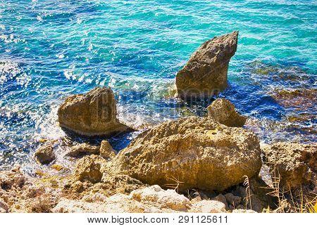 Beautiful Sea And Stones. Non Urban Scene.
