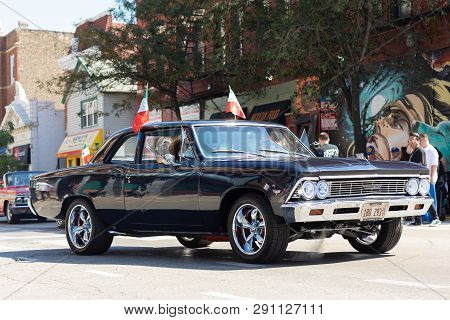 Chicago, Illinois, Usa - September 15, 2018: Pilsen Mexican Independence Day Parade, Chevrolet, Chev