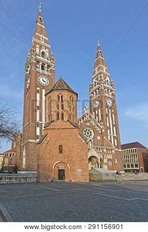 Szeged, Hungary - March 11, 2011: The Saint Demetrius Tower Oldest Historic Monument In Szeged, Hung