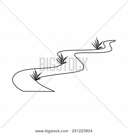Vector Illustration Of Road And Scenery Sign. Set Of Road And Footpath Vector Icon For Stock.