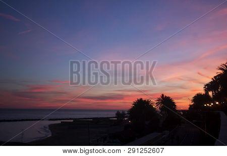 Sea In The Sunset Light