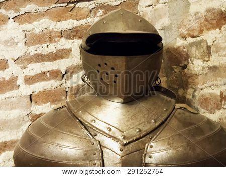 Ancient Iron Armor, Close Up, Horizontal Image