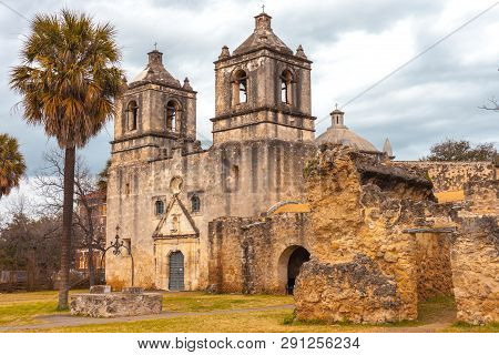 Mission Conception Entrance - Example Of Spanish Colonial Architecture - Unesco Site
