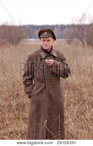 Russian soldier 1918. Civil War reenacting poster