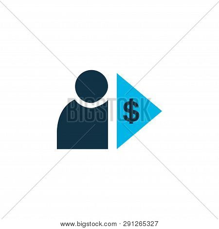 Investor Icon Colored Symbol. Premium Quality Isolated Capitalist Element In Trendy Style.