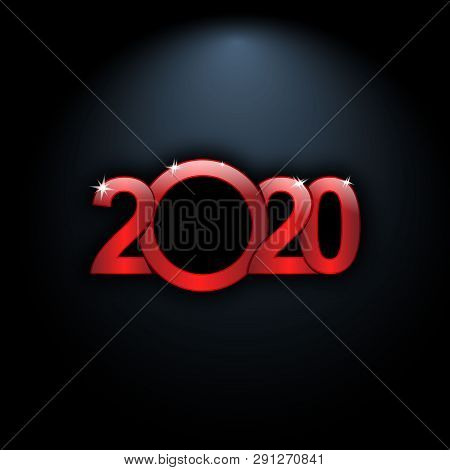2020 Text, New Year 2020, 2020 Text For Calendar  New Years, Happy New Year 2020, Red 2020, New Year