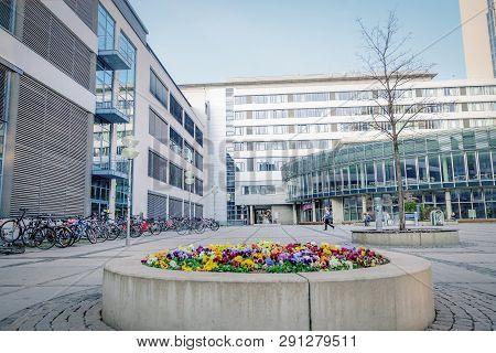 Jena, Germany. March 23 2019. Friedrich Schiller University In Jena, Germany. Famous German High Sch