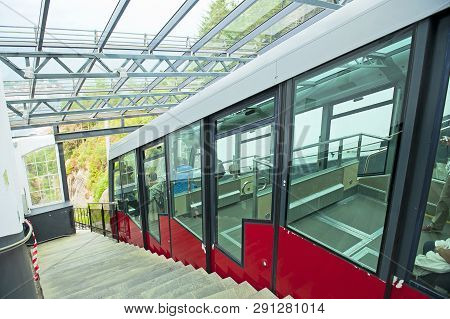 Funicular`s Station On The Top Of Mount Floyen In Bergen, Norway