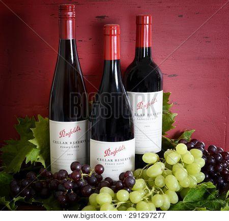 Australian Premium Quality Bottles Of Penfolds Special Cellar Reserve Wines.