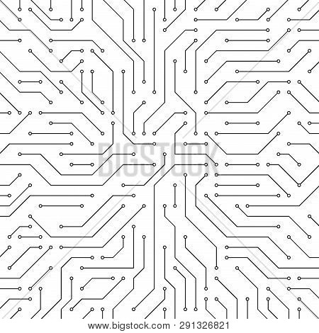 Circuit Board Background. Vector Electronic Background. Electronics Board.
