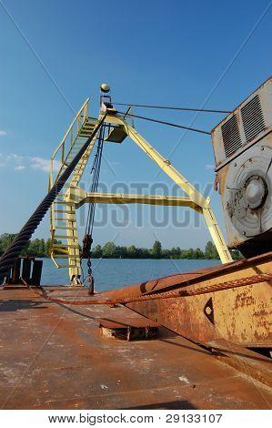 Abandoned ship. Kiev region. Ukraine