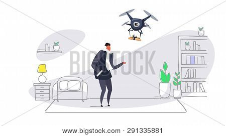 Man Getting Parcel Vector & Photo (Free Trial) | Bigstock