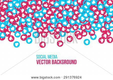 Creative Vector Illustration Of Social Network Icons Isolated On Transparent Background. Art Design