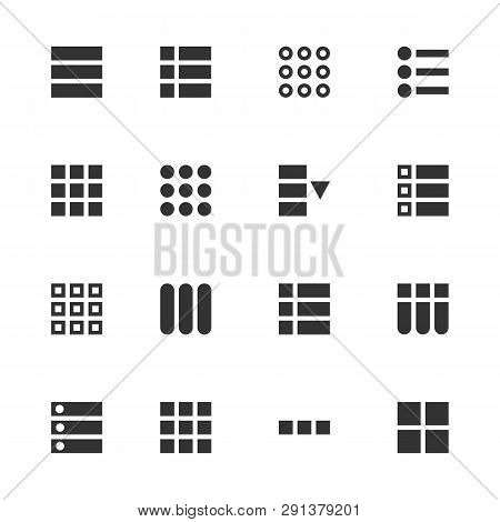 Creative Vector Illustration Of Hamburger Ui, Ux Menu User Interface Navigation Icons Isolated On Ba
