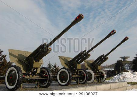 Memorial and museum  of 2-nd World War. Kiev,Malorussia ( Ukraine). 76mm-Soviet cannon poster