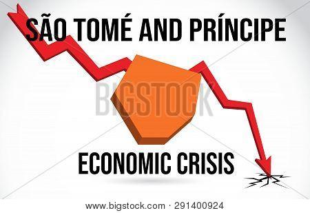 São Tomé And Príncipe Map Financial Crisis Economic Collapse Market Crash Global Meltdown