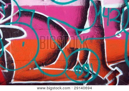 Bad district.Vandalism.Graffity on a wall. Kiev,Ukraine