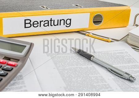 Folder With The German Label Beratung - Consulting