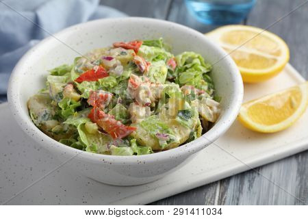 Potato salad with lobster