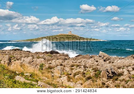 Landscape Of Isola Delle Femmine Or The Island Of Women Located On The Shore Of Mediterranean Sea In