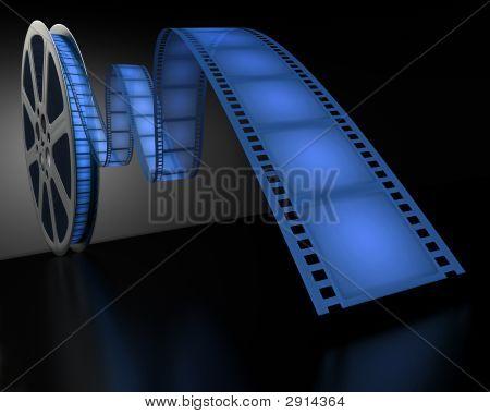 Blue Film Reel