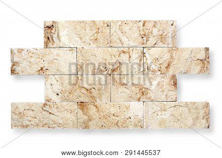 Decorative Stone Bricks In Random Shape Isolated On White