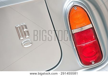 Hook, Uk - January 1:  Close-up Vehicle Badge Insignia On An Aston Martin Sports Car Automobile In H