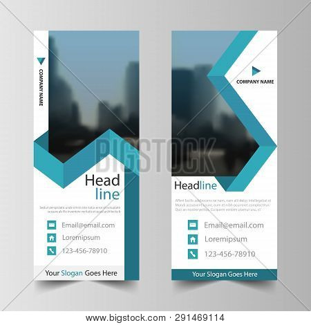 Business Roll Up Banner Flat Design Template ,abstract Geometric Banner Template Vector Illustration