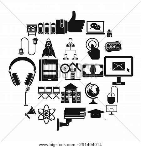 Commune Icons Set. Simple Set Of 25 Commune Icons For Web Isolated On White Background