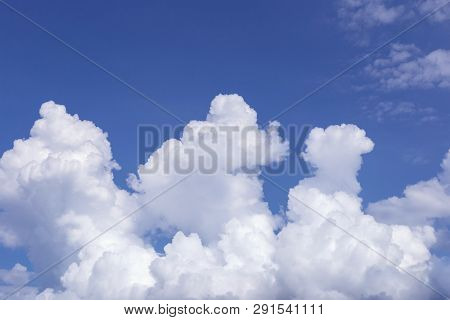 The vast blue sky and clouds sky. blue sky background with tiny clouds. blue sky panorama. blue sky beautiful. blue sky and cloud wallpaper. blue sky and cloud nature.   poster