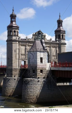Old big bridge Luisa in Sovetsk Russia