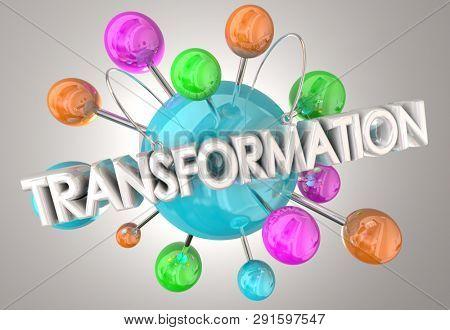 Transformation Change Evolve Spheres 3d Illustration