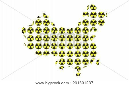 Concept Of Radioactive Map Of China Illustration Vector
