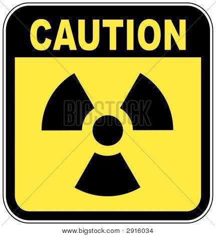 Radio Active Sign Caution