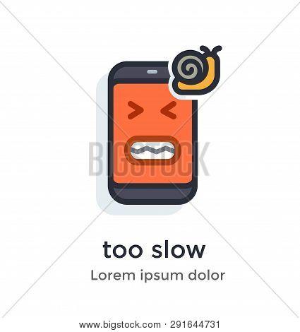 Emotion Phoneproblems, Glitches, Virus, Firmware, Os, Snail, Slowly, Friezes Annoying Work Illustrat