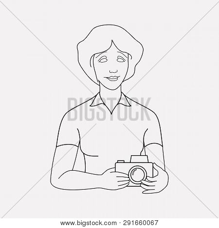Paparazzi Icon Line Element. Vector Illustration Of Paparazzi Icon Line Isolated On Clean Background