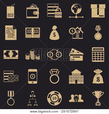 Cash Costs Icons Set. Simple Set Of 25 Cash Costs Icons For Web For Any Design