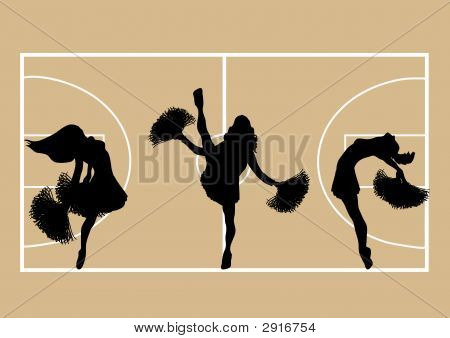 Cheerleaders Basketball