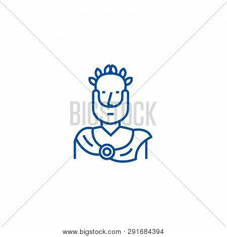 Aristotle, Greek Philosopher Line Icon Concept. Aristotle, Greek Philosopher Flat  Vector Symbol, Si