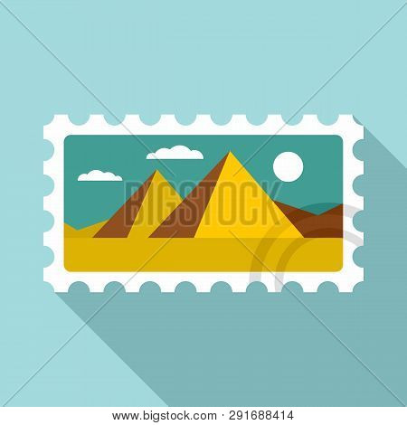 Envelope Timbre Icon. Flat Illustration Of Envelope Timbre Vector Icon For Web Design