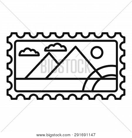 Envelope Timbre Icon. Outline Envelope Timbre Vector Icon For Web Design Isolated On White Backgroun
