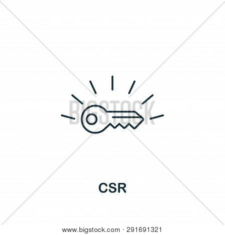 Csr Icon. Thin Line Design Symbol From Business Ethics Icons Collection. Pixel Perfect Csr Icon For