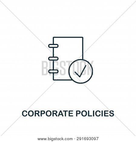 Corporate Policies Icon. Thin Line Design Symbol From Business Ethics Icons Collection. Pixel Perfec
