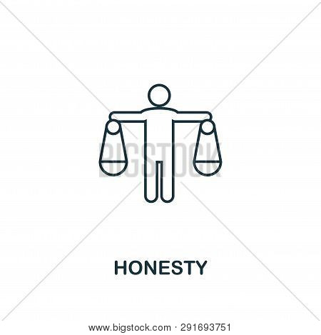 Honesty Icon. Thin Line Design Symbol From Business Ethics Icons Collection. Pixel Perfect Honesty I