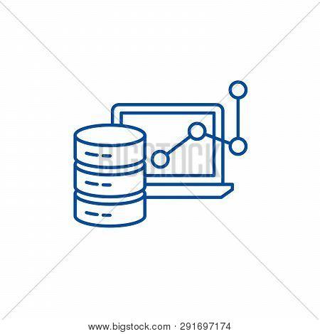 Big Data Framework Line Icon Concept. Big Data Framework Flat  Vector Symbol, Sign, Outline Illustra