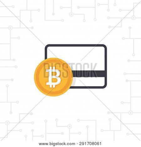 Bit-coin Payment In Flat Design Vector