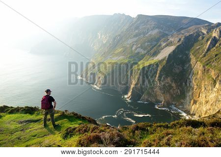 Slieve League, Irelands Highest Sea Cliffs, Located In South West Donegal Along This Magnificent Cos
