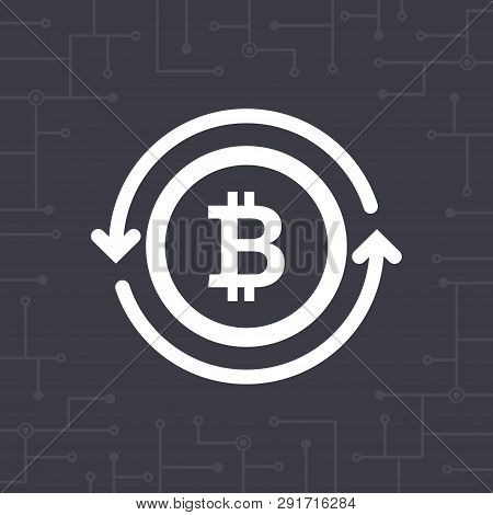 White Bit-coin Symbol With Circle Arrows