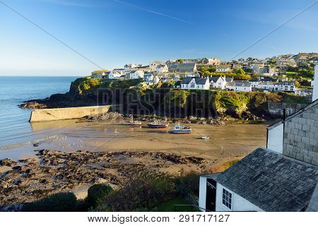 Port Isaac, A Small And Picturesque Fishing Village On The Atlantic Coast Of North Cornwall, England