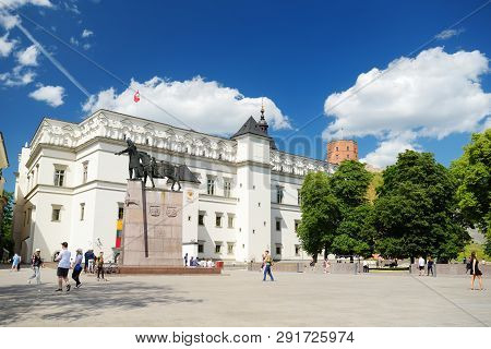 Vilnius, Lithuania - June 15, 2018: The Palace Of The Grand Dukes Of Lithuania, Originally Construct